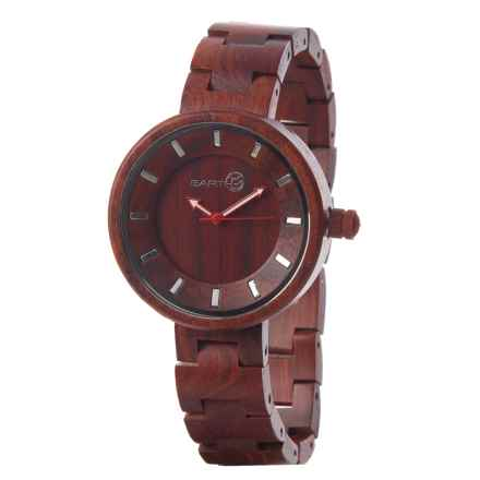 Earth Wood Goods Root Analog Watch - 41mm, Wood Bracelet (For Women) in Red Wood - Closeouts