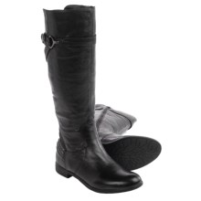 Earth Woodstock Knee-High Leather Boots (For Women) in Black Leather - Closeouts