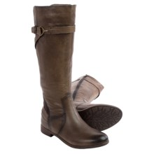 Earth Woodstock Knee-High Leather Boots (For Women) in Taupe Leather - Closeouts