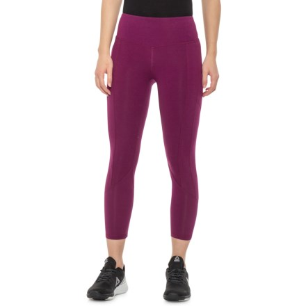 11de7b2548 Earth Yoga Utility Pose Capris (For Women) in Plum Berry