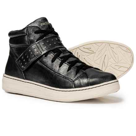 322162a50a0 Earth Zeal Studded Leather Sneakers (For Women) in Black