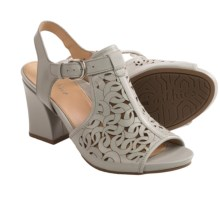 Earthies Acadia Cutout Detail Sandals (For Women) in Pale Grey - Closeouts
