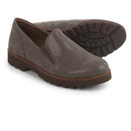 Earthies Almada Loafers - Leather (For Women) in Grey - Closeouts