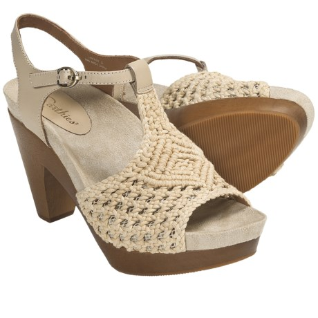 Earthies Amalfi Crochet Sandals - Platform (For Women) in Natural