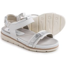 Earthies Argo Sandals - Leather (For Women) in Light Grey Multi Linen Mesh - Closeouts