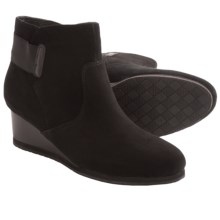 Earthies Beaumont Ankle Boots (For Women) in Black Suede - Closeouts