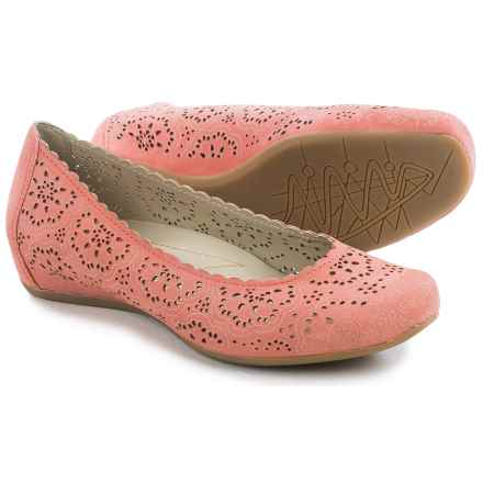 Earthies Bindi Leather Ballet Flats (For Women) in Coral Nubuck - Closeouts