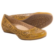 Earthies Bindi Leather Ballet Flats (For Women) in Golden Oak Full Grain - Closeouts