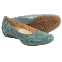 Earthies Bindi Leather Ballet Flats (For Women) in Mint Full Grain - Closeouts