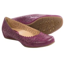 Earthies Bindi Leather Ballet Flats (For Women) in Raspberry Full Grain - Closeouts