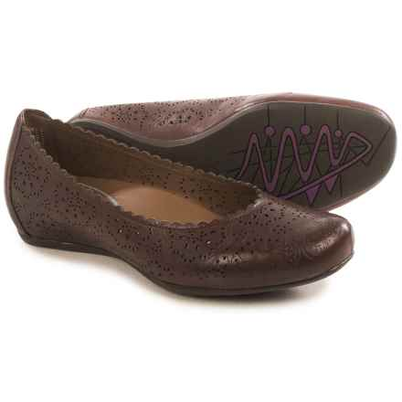 Earthies Bindi Leather Ballet Flats (For Women) in Wine Leather - Closeouts