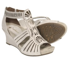 Earthies Carmona Sandals - Suede, Wedge Heel (For Women) in Desert - Closeouts