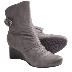 Earthies Chelsea Boots - Suede (For Women) in Dark Grey Vintage Leather
