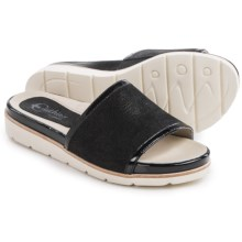 Earthies Crete Sandals - Leather (For Women) in Black Nubuck - Closeouts