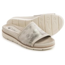 Earthies Crete Sandals - Leather (For Women) in Off White Multi Metallic - Closeouts