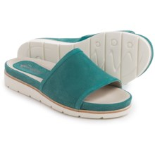 Earthies Crete Sandals - Leather (For Women) in Turquoise Nubuck - Closeouts