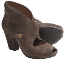 Earthies Cristiana Open Pumps - Suede (For Women) in Taupe Suede - Closeouts