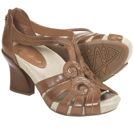 Earthies Domingo Sandals - Leather (For Women) in Alpaca Calf