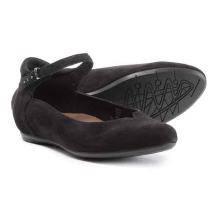 Earthies Emery Flats - Suede (For Women) in Black - Closeouts