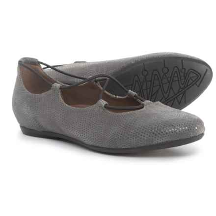 Earthies Essen Ghillie Flats - Suede (For Women) in Grey - Closeouts