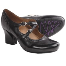 Earthies Essex Mary Jane Pumps (For Women) in Black Calf Leather - Closeouts