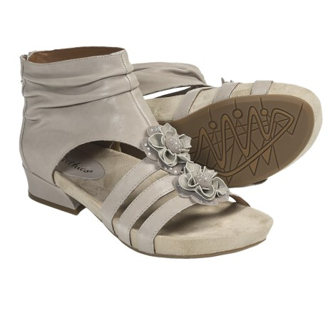 Earthies Eviya Gladiator Sandals - Leather (For Women) in Taupe Calf