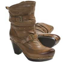 Earthies Fabienne Boots - Leather (For Women) in Almond - Closeouts