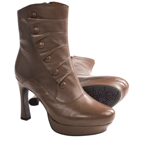 Earthies Ferrara Boots - Leather (For Women) in Taupe Khaki Leather