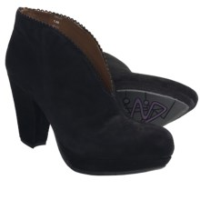 Earthies Halley Ankle Boots - Suede (For Women) in Black Suede - Closeouts