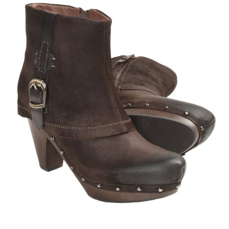 Earthies Lacarne Boots - Oiled Suede (For Women) in Dark Brown