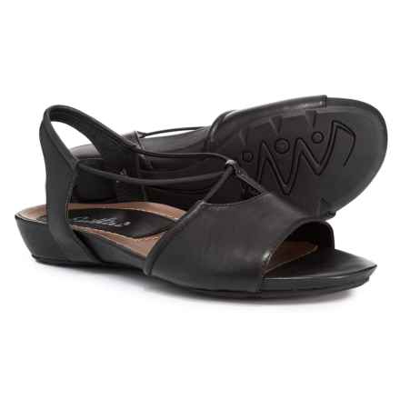 663fb5aa5da Earthies Lacona Quarter Strap Sandals (For Women) in Black