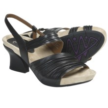 Earthies Largo Sandals - Leather (For Women) in Black Calf - Closeouts