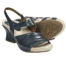 Earthies Largo Sandals - Leather (For Women) in Navy Calf - Closeouts