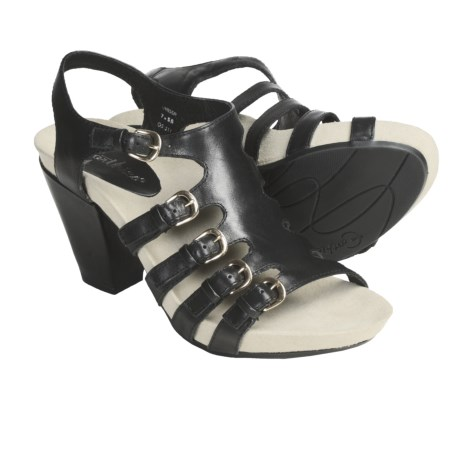 Earthies Larissa Sandals - Leather (For Women) in Black