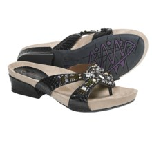 Earthies Lazeretta Sandals - Leather (For Women) in Black - Closeouts