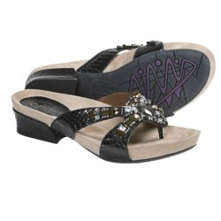 Earthies Lazeretta Sandals - Leather (For Women) in Black