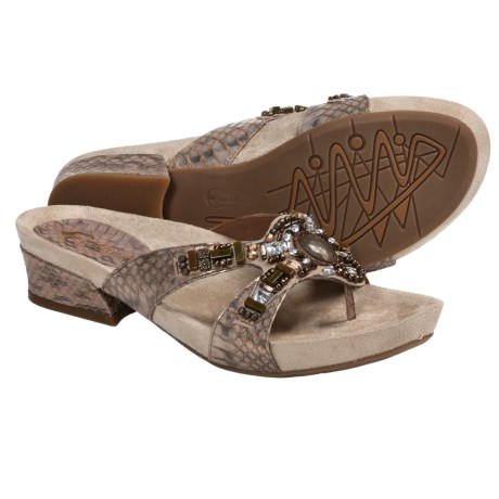 Earthies Lazeretta Sandals - Leather (For Women) in Bronze Multi