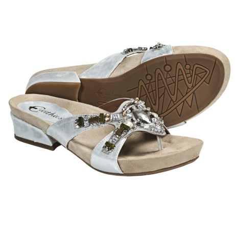 Earthies Lazeretta Sandals - Leather (For Women) in Silver