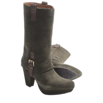 Earthies Lintz Boots - Suede (For Women) in Pine
