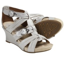 Earthies Lucia Too Wedge Sandals - Leather (For Women) in Crystal Leather - Closeouts