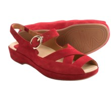 Earthies Malina Sandals - Criss-Cross Strap (For Women) in Bright Red - Closeouts