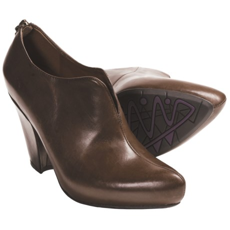 Earthies Mareesa High Heel Shoes - Leather (For Women) in Ginger