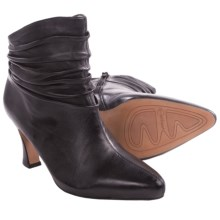 Earthies Montebello Ankle Boots - Side Zip (For Women) in Black Leather - Closeouts