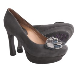 Earthies Monza Pumps - Leather (For Women) in Dark Taupe Suede