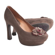 Earthies Monza Pumps - Leather (For Women) in Dark Taupe Suede - Closeouts