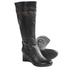 Earthies Newcastle Tall Boots - Leather (For Women) in Black Calf Leather