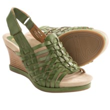 Earthies Petra Wedge Sandals - Woven Leather (For Women) in Grass Calf - Closeouts