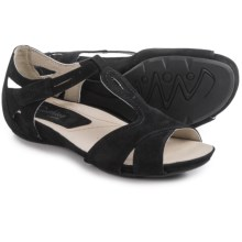 Earthies Ponza Sandals - Leather (For Women) in Black Soft Buck - Closeouts