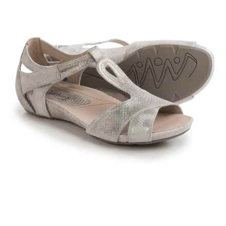 Earthies Ponza Sandals - Leather (For Women) in Off White Metallic - Closeouts
