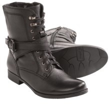 Earthies Porto Boots (For Women) in Black Leather - Closeouts